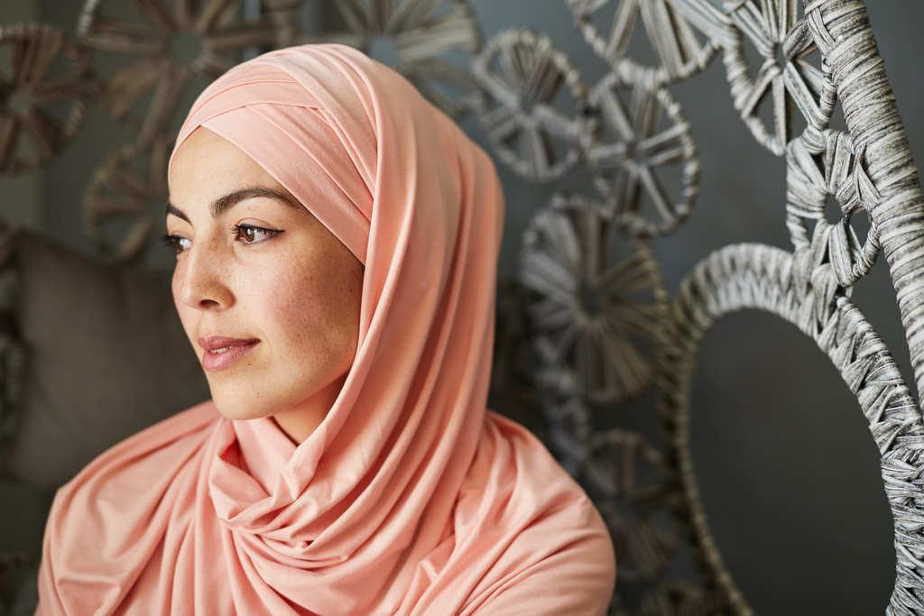 Femme musulmane coeur humble