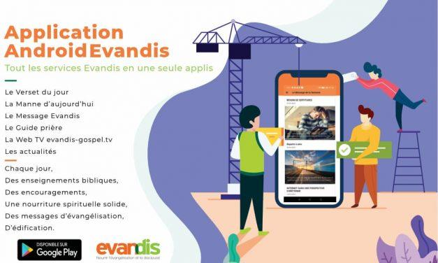 Application mobile Evandis Android
