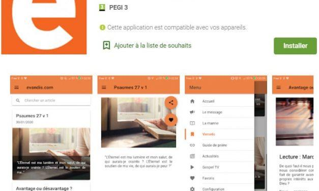 Application Evandis Android
