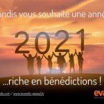 Evandis vœux 2021