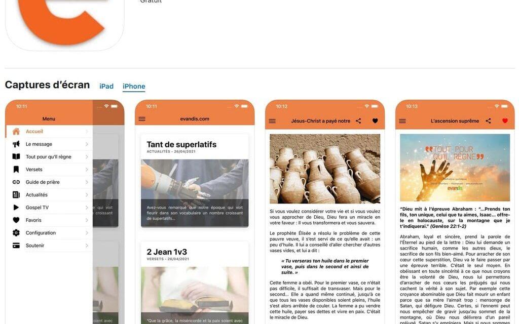 Nouveauté Evandis Application mobile Apple iOS